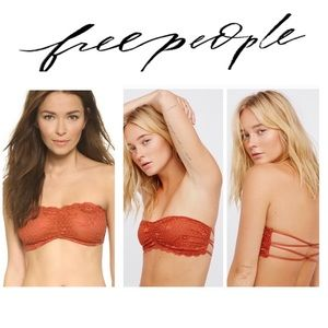 FREE PEOPLE Lace Bandeau Bra Terracotta Size XS